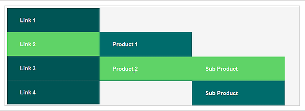 ejemplo de menu horizontal